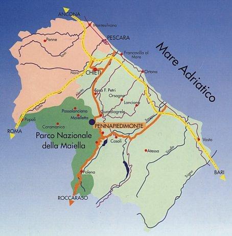 Bari Cartina Geografica.Cartina Dell Abruzzo